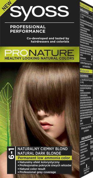 Syoss Pronature 6 1 Naturalny Ciemny Blond Koloryzacja Wlosow